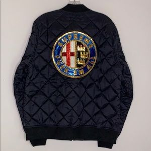 SUPREME Sequin Patch Quilted Bomber Jacket f all